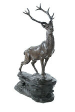 "Regal Elk Beautiful 24""Cast Metal Sculpture After L. Carvin"