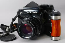 【NEAR MINT】PENTAX 67 TTL Late Model + SMC T 105mm F2.4 Wood grip From JAPAN 491