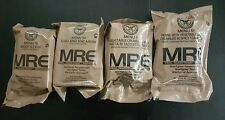 "Lot of 4 Military ""Meal Ready To Eat"" (MRE) Military Issue Field Ration"