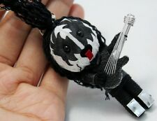 KISS Rock Band Voodoo String Keychain Keyring Handmade Doll The Demon Singer New