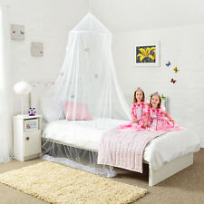 NEW! Princess Bed Canopy - With Shiny Silver Stars Girls Bedroom Easy To Hang!
