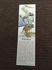 "Book Marker, Herons, Wildlife Collectibles, 7"" x 2"", Beautiful Colors"