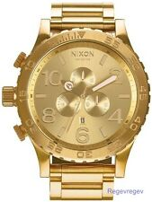 New Nixon Watch 51-30 Chrono All Gold Men's A083502 A083-502 Dial Box NWT