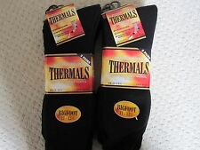 BNWT  - 12 PAIRS BIGFOOT MENS BLACK WINTER THERMAL SOCKS -  SIZE 11-13 1/2