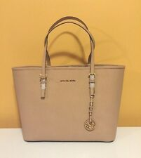 NWT Michael Kors Medium Blush Jet Set Travel Saffiano Leather Tote $278