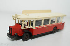 SOLIDO 4401 RENAULT AUTOBUS TN6C 1934 RED CREAM GIRAUDY EXCELLENT CONDITION