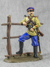 Russian 1/32 Civil War White Cossack Officer Hand Painted Tin Toy Soldiers 54mm