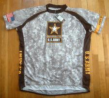 PRIMAL WEAR U.S. Army Cycling Jersey Mens 5XL XXXXXL NWT Gray White Black Yellow