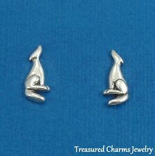 .925 Sterling Silver COYOTE Howling Wolf Post Stud Earrings