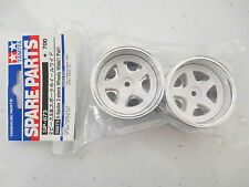 Tamiya 50673 5-Spoke 2-Piece Wheels Wide (1 Pair) TA01/TA02W, NIP