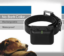 USA Waterproof Rechargeable MEDIUM LARGE ANTI BARK NO BARKING DOG SHOCK COL