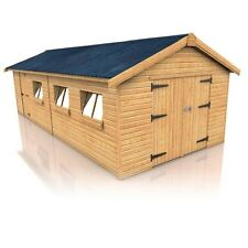 NEW TIMBER GARAGE 24' x 12' GARAGES FOR SALE FREE DELIVERY