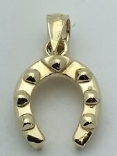 Brand New 14K Yellow Gold Horse Shoe Lucky Charm Pendant 2 grams Jewelry