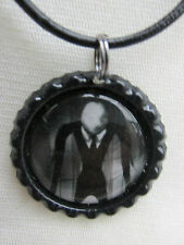 SLENDER MAN BOTTLE CAP NECKLACE