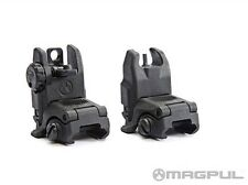 MAGPUL PTS MBUS GEN2 Polymer Front + Rear Backup Folding Sight Airsoft BLACK