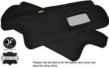 GREY STITCHING 2X SUN VISORS LEATHER COVERS FITS TOYOTA COROLLA GT AE82