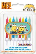 DESPICABLE ME 2 CAKE CANDLE Decoration (9pc) ~ Birthday Party Supplies Minions