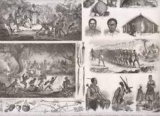 Etnografia Antichi popoli della Terra, costumi, razze antiche1850 xilografia