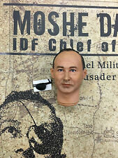 "Hobby Master Moshe Dayan IDF Chief 12"" Head Sculpt & Eye Patch loose 1/6th scale"