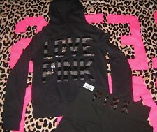 NEW VICTORIA SECRET PINK BLING HOODIE & YOGA PANTS  2 PCS SET + Gift Bag sz M
