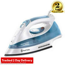 RUSSELL HOBBS 15081 Steamglide Iron Steam Generator Ceramic Plate White Blue