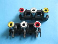 250 pcs AV3 Pin Jack RCA Female 3 Color Audio Video AV Socket Connector AV3-5