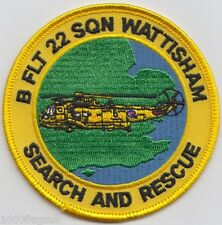 RAF no. 22 Squadron Search and Rescue B Royal Air Force Embroidered Badge Patch