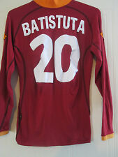 Roma 2001-2002 Batistuta 20 Home Football Shirt long sleeve adult Small /40275