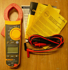 NEW Fluke F319 LCD Digital Clamp Meter True-RMS 37mm Frequency 6000 Count w/Case