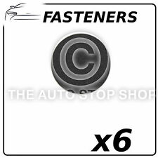 Fasteners Adhesives Patches  - Black Part Number: 1479 Pack of 6 In Plastic Bag