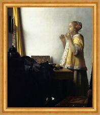 Young Woman with a Pearl Necklace Jan Vermeer Schmuck Frauen Kette B A3 02466