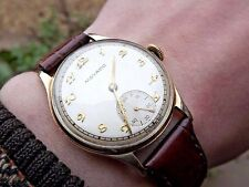 Vintage Movado Calatrava 9ct solid gold dress watch c.1950