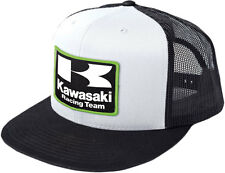 Factory Effex Official Licensed KAWASAKI Racing Snap-Back Hat/Cap (Black/White)