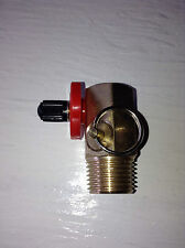 "HF201001AV Portable Air Tank Valve 1/2"" NPT Male Port 1/4"" NPT Gauge Hose Brass"