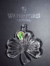 WATERFORD CRYSTAL IRISH SHAMROCK 2015 CHRISTMAS HOLIDAY ORNAMENT NIB