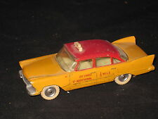 VINTAGE DINKY TOYS PLYMOUTH PLAZA TAXI CAB MADE IN ENGLAND 1957 PLYMOUTH