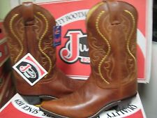 Justin Women's Leather Boots Golden Saltillo, L4954 Size 7B NEW