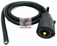 New 7-WAY ELECTRICAL PLUG & 7FT CABLE,RV TOWING,TRAILER BRAKE WIRING HARNESS
