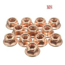 12x HEX EXHAUST MANIFOLD HEAD STUD NUT COPPER SELF LOCKING FOR BMW E30 3 SERIES