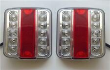 2 x 12V LED REAR TAIL LIGHTS LAMPS 5 FUNCTION / TRAILER CARAVAN TRUCK VAN E-MARK