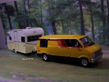 1976 DODGE VAN + SHASTA AIRFLYTE CAMPER COLLECTIBLE MODELS - 1/64 SCALE DIORAMA