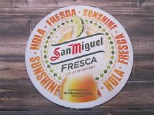 Beer Coaster ~*~ SAN MIGUEL Fresca Cerveza Refrescante Cerveza ~ The PHILLIPINES