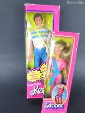 GREAT SHAPE BARBIE Doll Lot ~ 1980 KEN & 1983 SKIPPER