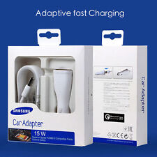 Original Fast Rapid Adaptive Car Charger For Samsung Galaxy S6 Edge + Plus Note5