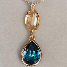 49.1CT 18K Rose Gold Plated Exquisite Crystal Pendant Necklace New Style MSD5