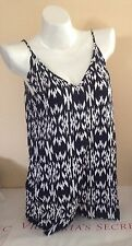 Victorias Secret Beach SEXY Sleeveless Shorts Black Romper Cover Up M NWT (A598)