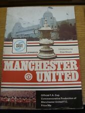 1977 Mancheter United: Official FA Cup Commemorative Production Of Manchester Un