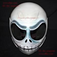 Custom Paint Helmet Motorcycle Superbike Bike Race Carting DOT White Jack CH10