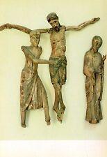 Arte antiguo tarjeta postal-Santa María de Taüll-detalle fusta tallada i policromada