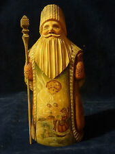 Hand carved wooden Russian Christmas Santa Grandfather Frost Georgio 1120-10 OL3